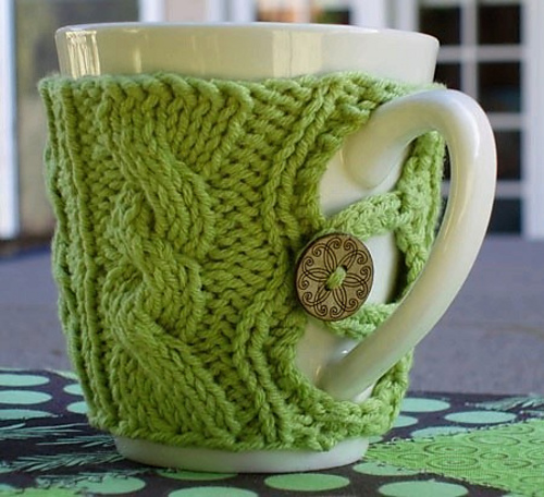Julie s Buttoned Up Cup Cosy Pattern Cosy Tea Blog