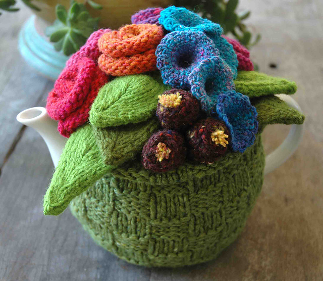 Free Knitted Tea Cosies Patterns : Loani s Wild Tea Cosy! Cosy Tea Blog