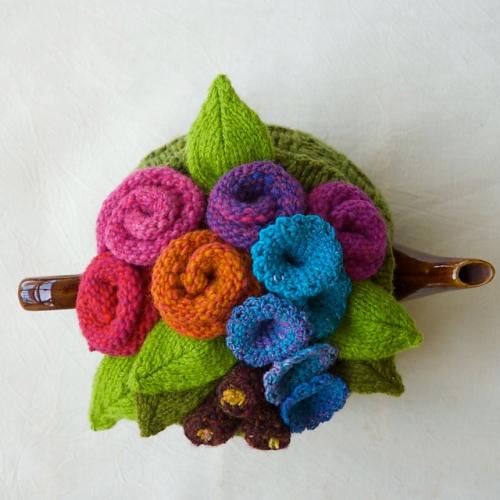hand knit tea cosy cosy tea blog