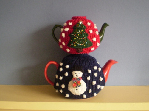 Christmas Tree Snowman Tea Cosy