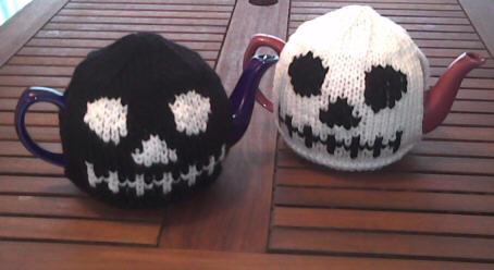 Halloween Skull Tea Cosies